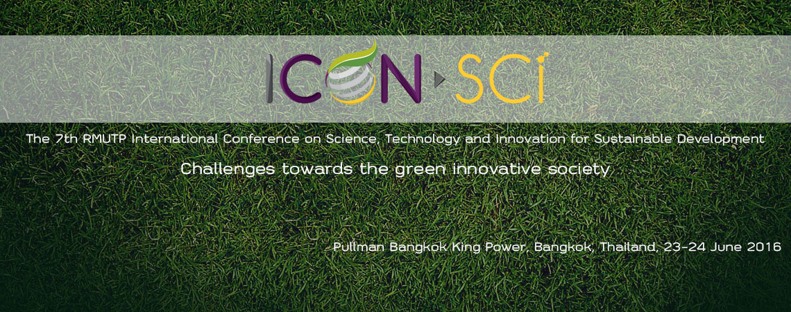 ICON SCi : The 7th RMUTP International Conference